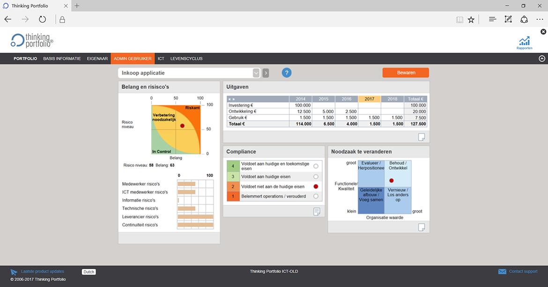 Applicatie Portfoliomanagement Software screenshot 1