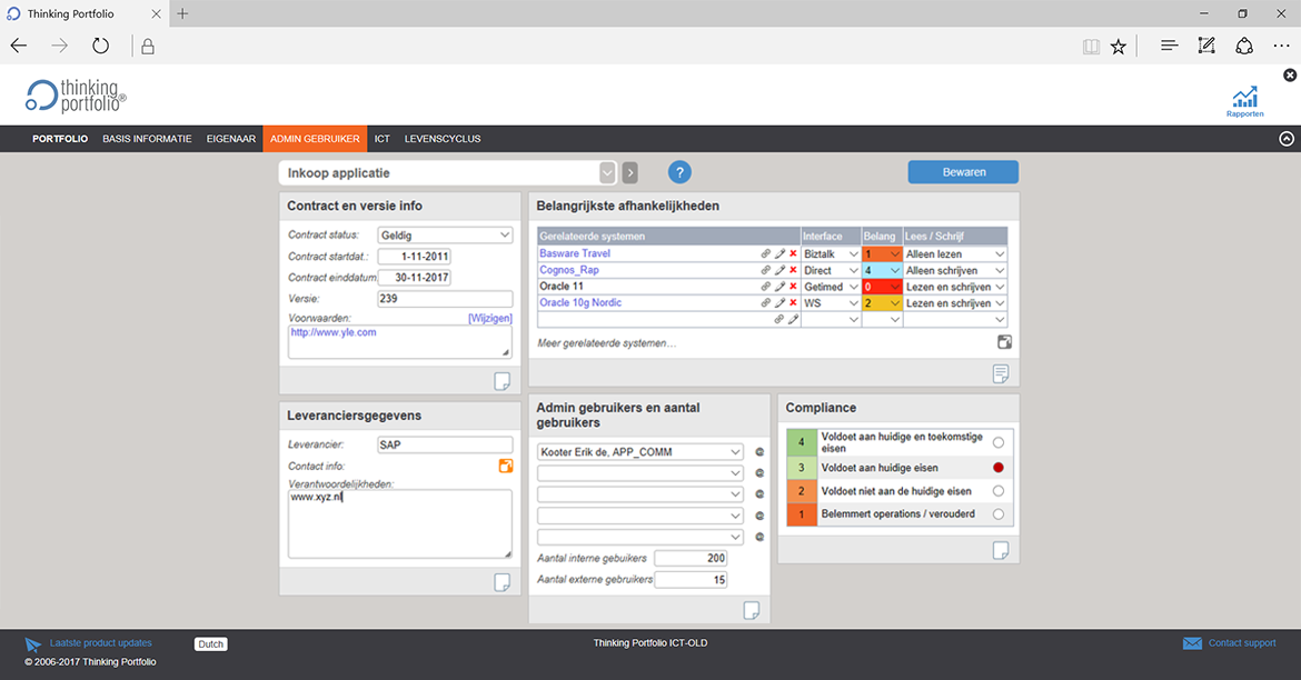 Applicatie Portfoliomanagement Software screenshot 2