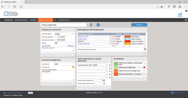 Applicatie Portfoliomanagement Software screenshot 2