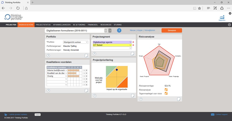 Project Portfoliomanagement Software Portfolio info